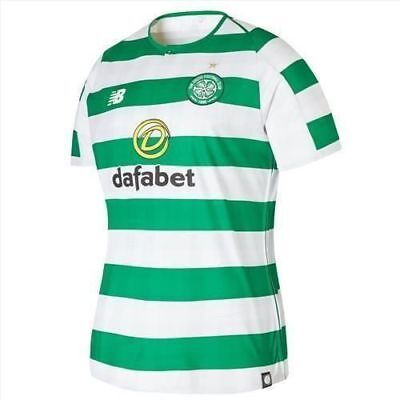 Celtic Mens Home Shirt 18/19 With Sponsor & Team Crest