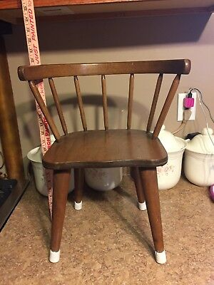 Antique Young Child's Toddler Wooden Chair, Sturdy Design