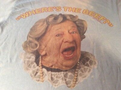 """Vintage """"Wheres The Beef"""" Tshirt Wendys 1984 Promotion"""