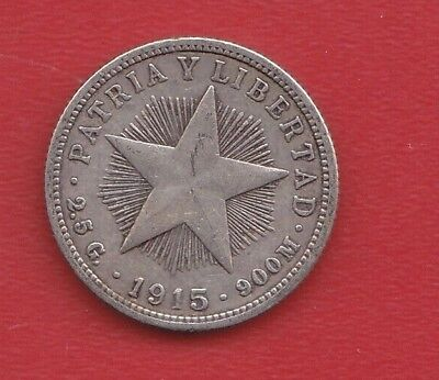 World Coin 10 Cents 1915  Silver