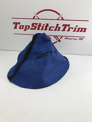 Fits 2003-05 Dodge Neon SRT4 Blue Perforated And Black Suede Shift Boot SRT-4
