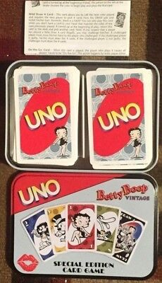 Betty Boop Special Edition Card Game Uno Cards In Metal Tin