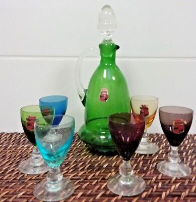 Astracolor Decanter And Glasses