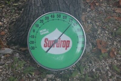 Vintage SUN-DROP GLASS DOME THERMOMETER-SUN DROP ADVERTISING PIECE