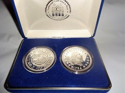 National Collector's Mint Silver Commemorative dollar 1776 & 1794 Proof Set