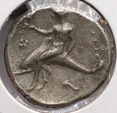 Greek Calabria Child on Dolphin 325-281 BC Silver Stater 918-29