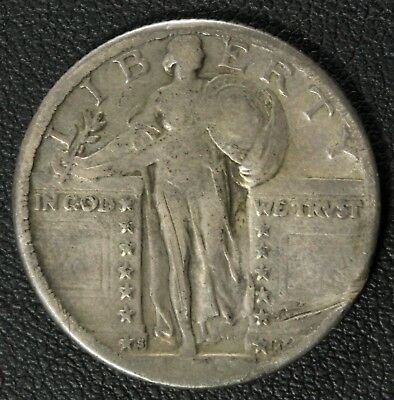 1923 S Standing Liberty Silver Quarter - Key Date - Gouges