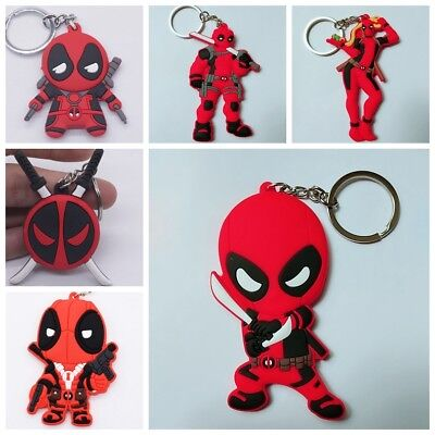 New Deadpool Soft Rubber Keyring Keychain Pendant