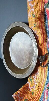 Old Middle Asian Brass Pan with Ornate Handles …beautiful collection / accent pi