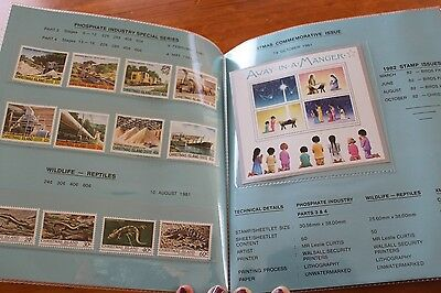 Mint 1981 Christmas Island Annual Presentation Stamp Pack -12 Stamps 1 M/s Muh