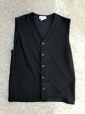 Inka Pello Men's Vintage Black Vest Shirt Top Size Medium