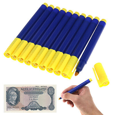 10x Bank Note Tester Pen Money Checking Detector Marker Fake Banknotes Office