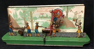 Antique Toy Tin Wind Up Boy Scout Sunny Andy's Kiddie Campers Vintage Old Works