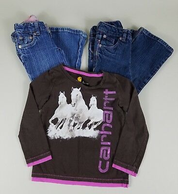 Mixed Lot Girls Clothing Size 4T Levis Jeans Carhart Shirt