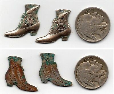 Circa 1900 Hamilton Brown Shoe Co. Ladies Hi-Top Shoes Advertising Earrings