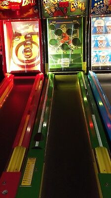 Bay-Tek Soccer Bowl, Skee Ball Style Alley Bowler, Plays Great
