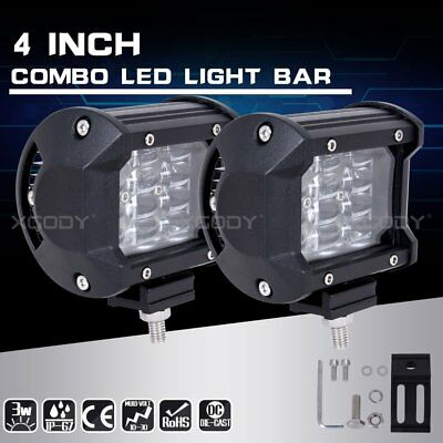 2X4Inch 18W 12LED Pods Spot Work Light Bar 4x3 Truck OffRoad Bumper Driving Lamp