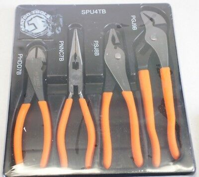 NEW MATCO Tools SPU4TB 4-Pc Universal Plier Set Needle Nose Cutters Slip Groove
