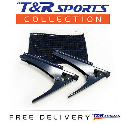 Table Tennis / Ping Pong Clamp Net & Post Set Free Delivery