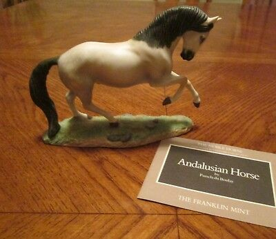 """Vintage - Franklin Mint """"The Great Horses of the World""""  ANDALUSIAN HORSE 1989"""