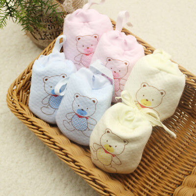 Soft Mittens Mitts Gloves knitted Cable Knit Winter Warm Pure Cotton Baby Care