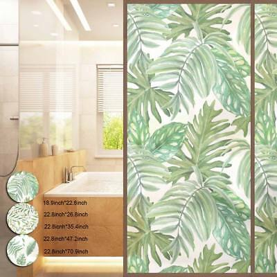 Self-adhesive Window Films Frosted Leaves Glasses Door Stickers Matte Privacy