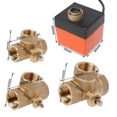 3 way motorized ball valve electric Three line two way control DN15/20/25 AC 220