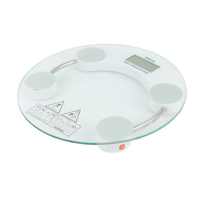 Round Digital LCD Glass Electronic Weight Body Bathroom Health Scale 180kg DFG