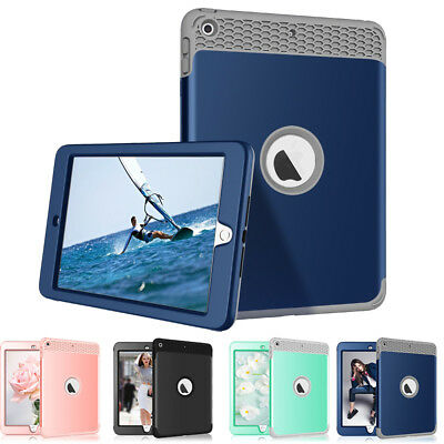 For iPad 9.7 2018 6th Gen A1893 A1954 ShockProof Rugged Defender Hard Case Cover