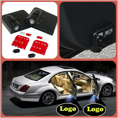 2PCS For Lancia Wireless Courtesy Welcome Car door Light Logo Shadow Projector