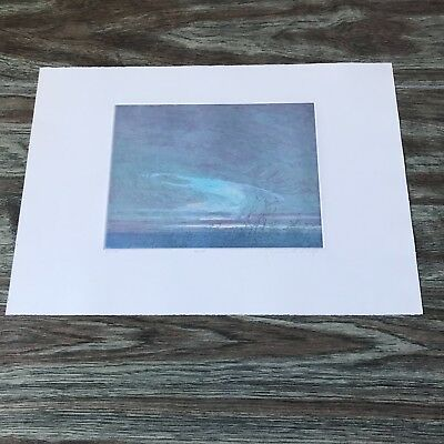 "Russell Chatham Original Signed Etching ""Dusk"" 1984 Numbered 66/185 Trimmed"