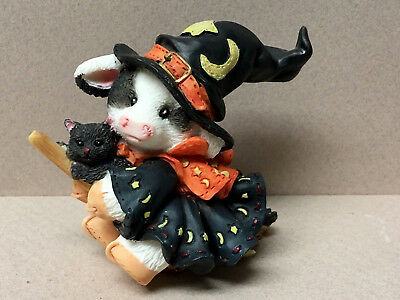 "Enesco MERRY MOO MOO'S Halloween ""I Cast My Spell On Moo!"" 1996-MIB!"