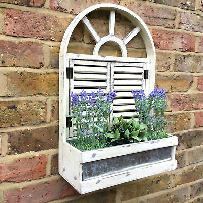 French Vintage Style Wooden Wall Garden Planter Flower Pots Herbs Window Box NEW