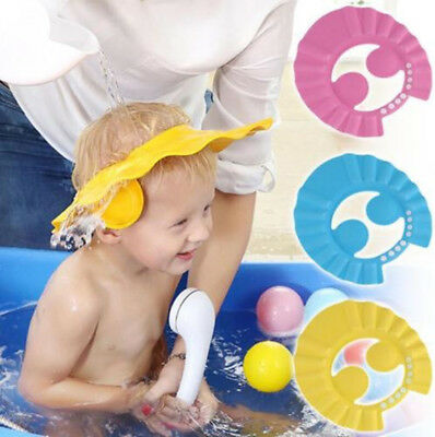 Adjustable Baby Shower Cap Hat Wash Hair Shield Kids Shampoo Ear Cover Bathing