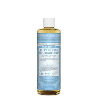 Dr Bronner's Pure Castile Soap Liquid Baby Unscented 473ml
