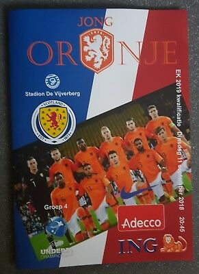 UNDER 21 CHAMPIONSHIP ~ HOLLAND v SCOTLAND ~ 11/09/2018  ~ UNOFFICIAL PROGRAMME