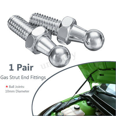 2pcs Boot Bonnet Gas Strut End Fitting 10mm M8 Ball Pin Joint Multi Fit GSF47