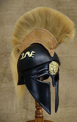 Unidecor Medievial Replica Black Corinthian Helmet Re-enactment Armour Helmet