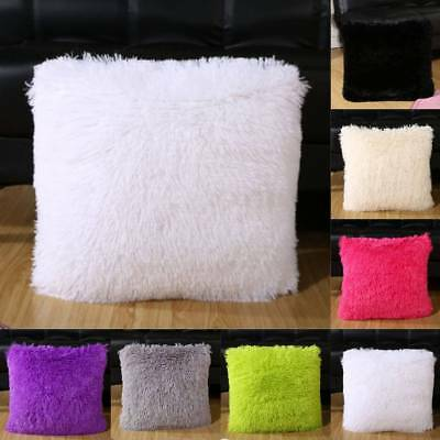 Fluffy Faux Fur Shaggy Soft Sofa Chair Bed Home Decor Pillow Case Cushion Cover