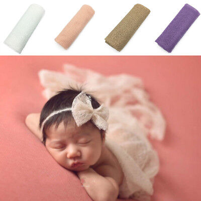 Baby Photography Props Mesh Gauze Knit Wrap Cloth Newborn Photo Swaddlings Comfy