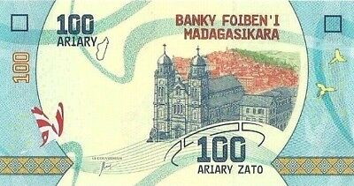 Madagascar. 2017,,100 Ariary,p-New ,uncirculated .(S)