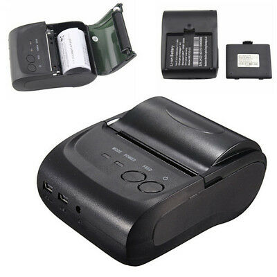 58mm Portable USB Wireless Bluetooth Mini Thermal Receipt Printer for Android 9V