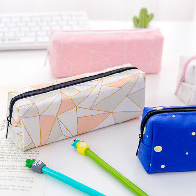 Cute Pencil Case Box School Office Stationery Pouch Zipper Cosmetic Makeup Bag