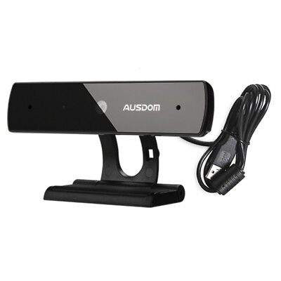 AUSDOM Webcam 1080P Full HD USB Web Camera Skype Web PC Computer with Microphone