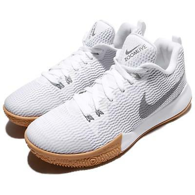 huge selection of 4d7ac c2882 Nike Zoom Live II EP 2 White Reflect Silver Gum Men Basketball Shoes  AH7567-100