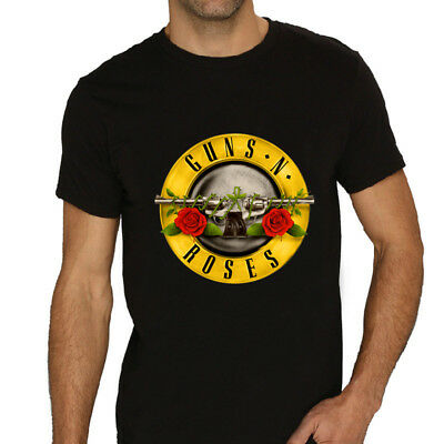 Guns N Roses Band T-Shirt Black Music Hard Rock Sizes Women Guitar Concert Slash
