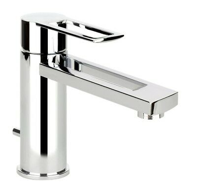 Gessi TRASPARENZE BASIN MIXER 140mm Height, Fixed Outlet, Lever Handle CHROME