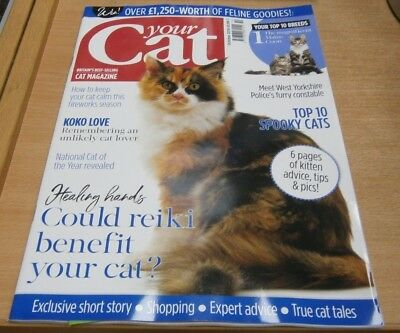 Your Cat magazine Oct 2018 Reiki for cats + Cat of the Year, top 10 breeds &more