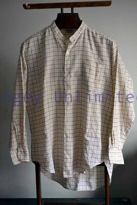 Vintage Viyella TATTERSALL Checked Collarband Tunic Shirt for your Stiff coll...