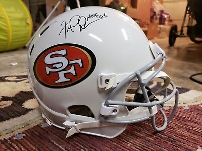 Fred Dean signed San Fran 49er Authentic game style on field NFL football helmet
